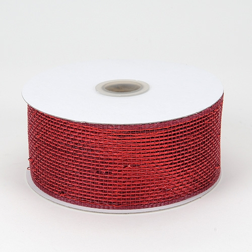 Burgundy Metallic Deco Mesh Ribbon