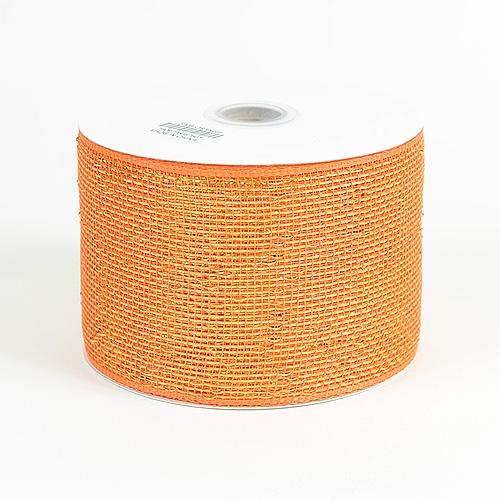 Orange Metallic Deco Mesh Ribbon