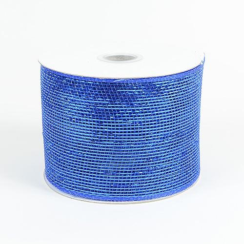 Royal Blue Metallic Deco Mesh Ribbon