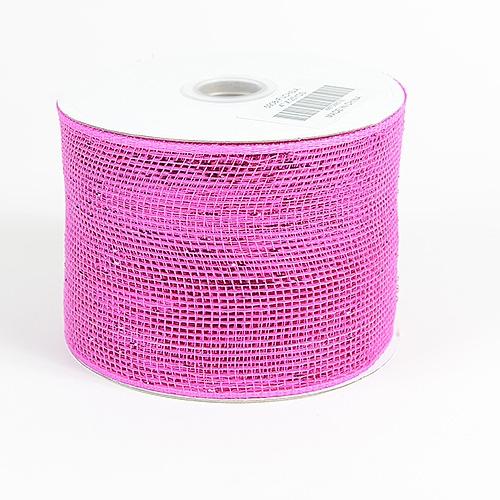Fuchsia Metallic Deco Mesh Ribbon