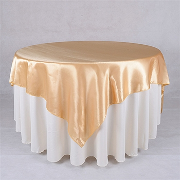 Gold 60 x 60 Inch Square Satin Overlays