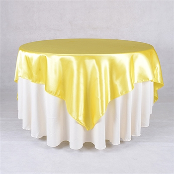 Daffodil 60 x 60 Inch Square Satin Overlays