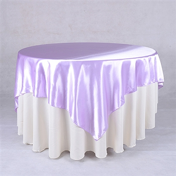 Lavender 60 x 60 Inch Square Satin Overlays