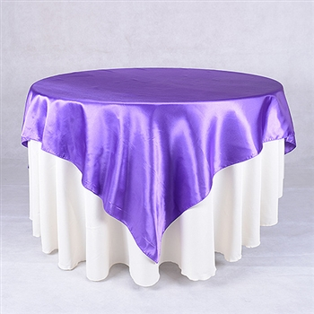 Purple 60 x 60 Inch Square Satin Overlays