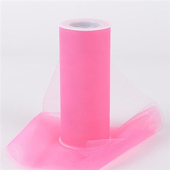 Paris Pink 12 Inch Tulle Roll 25 Yards
