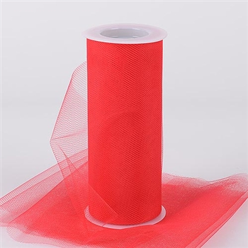 Red 12 Inch Tulle Roll 25 Yards
