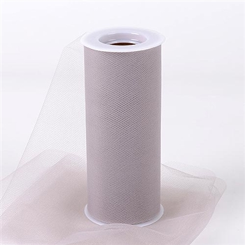 Silver 12 Inch Tulle Roll 25 Yards
