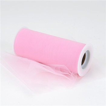 Pink 12 Inch Tulle Roll 25 Yards