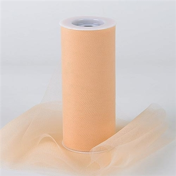 Beige 12 Inch Tulle Roll 25 Yards