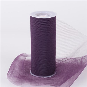 Eggplant 12 Inch Tulle Roll 25 Yards