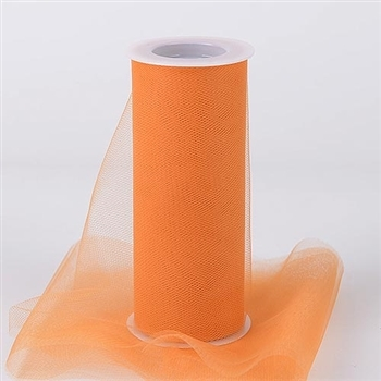 Orange 18 Inch Tulle Roll 25 Yards