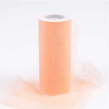 Peach 18 Inch Tulle Roll 25 Yards