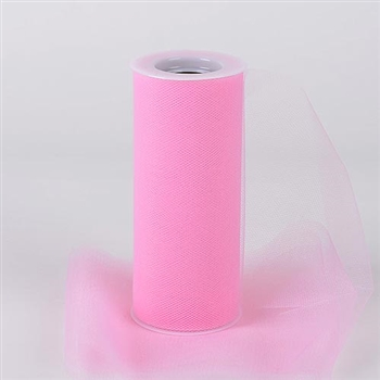 Pink 18 Inch Tulle Roll 25 Yards