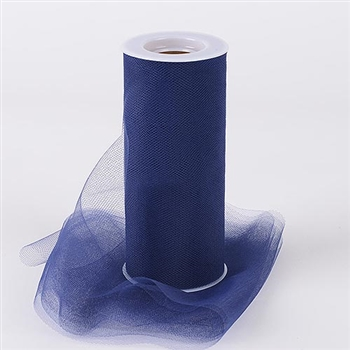 Navy Blue 18 Inch Tulle Roll 25 Yards