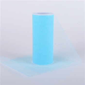Light Blue Glitter Tulle 6x25 Yards