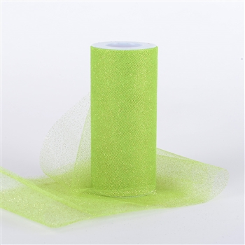 Apple Green Glitter Tulle 6x25 Yards