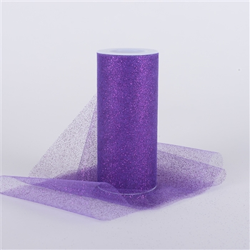 Purple Glitter Tulle 6x25 Yards