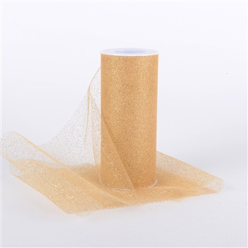 Gold Glitter Tulle 6x25 Yards