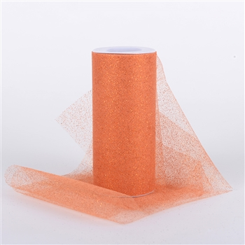 Orange Glitter Tulle 6x25 Yards