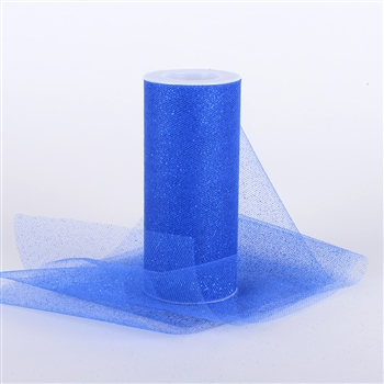 Royal Blue Glitter Tulle 6x25 Yards