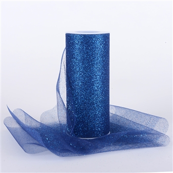 Navy Blue Glitter Tulle 6x25 Yards