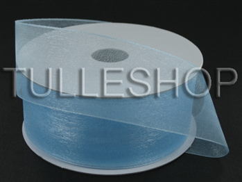 1-1/2 Inch Light Blue Organza Ribbon