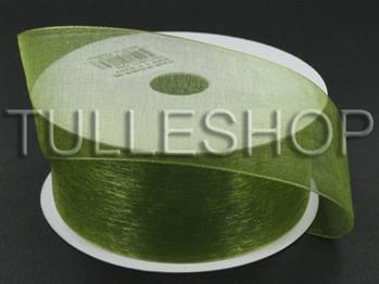 1-1/2 Inch Spring Moss Organza Ribbon