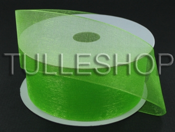 1-1/2 Inch Lime Green Organza Ribbon