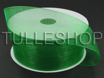 1-1/2 Inch Emerald Organza Ribbon