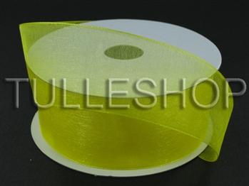 1-1/2 Inch Yellow Organza Ribbon