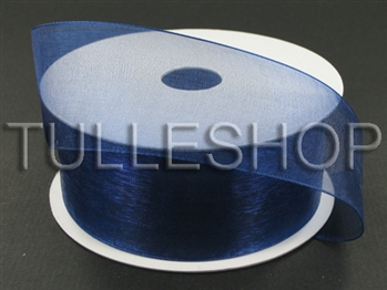 1-1/2 Inch Navy Blue Organza Ribbon