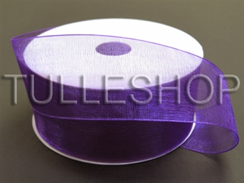 1-1/2 Inch Purple Organza Ribbon