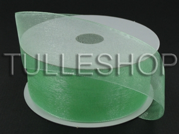 7/8 Inch Minty Green Organza Ribbon