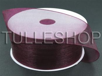 7/8 Inch Burgundy Organza Ribbon