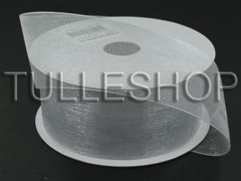 7/8 Inch Silver Organza Ribbon