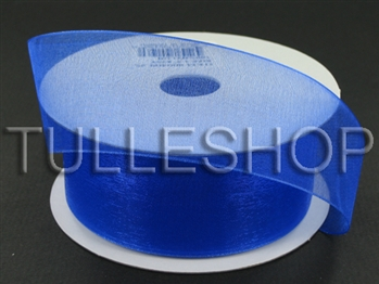 7/8 Inch Royal Blue Organza Ribbon