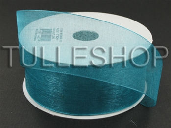 7/8 Inch Teal Organza Ribbon