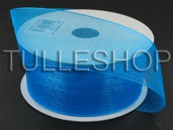 7/8 Inch Turquoise Organza Ribbon