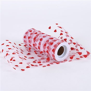 Red Heart Polka Dot 6 Inch Tulle Roll 10 Yards