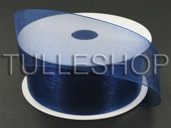 5/8 Inch Navy Blue Organza Ribbon