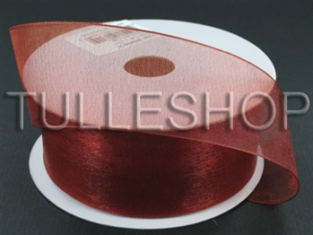 5/8 Inch Copper Organza Ribbon