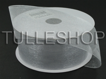 3/8 Inch Silver Organza Ribbon