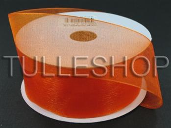 3/8 Inch Orange Organza Ribbon