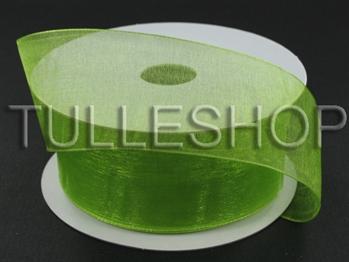 3/8 Inch Kiwi Green Organza Ribbon