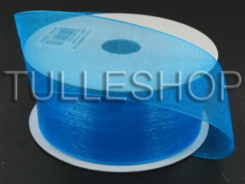 3/8 Inch Turquoise Organza Ribbon