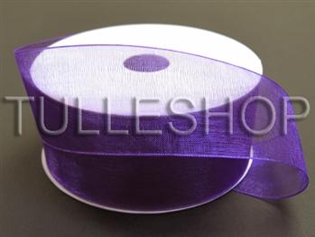 3/8 Inch Purple Organza Ribbon