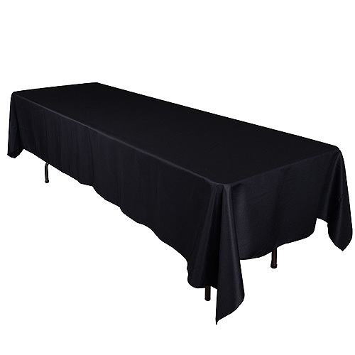 Black 70 x 120 Inch Rectangle Tablecloths