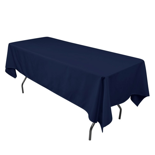 Navy Blue 70 x 120 Inch Rectangle Tablecloths