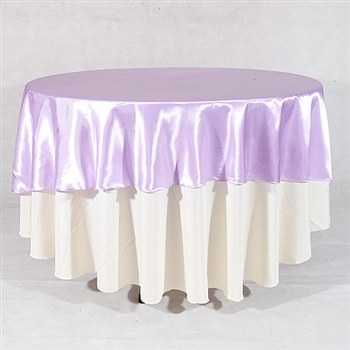 Lavender 70 Inch Round Satin Tableclothss
