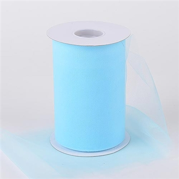 Light Blue 6 Inch Tulle Roll 100 Yards